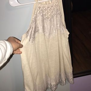 Tank top with lace detailing